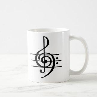 音符のデザイン コーヒーマグカップ