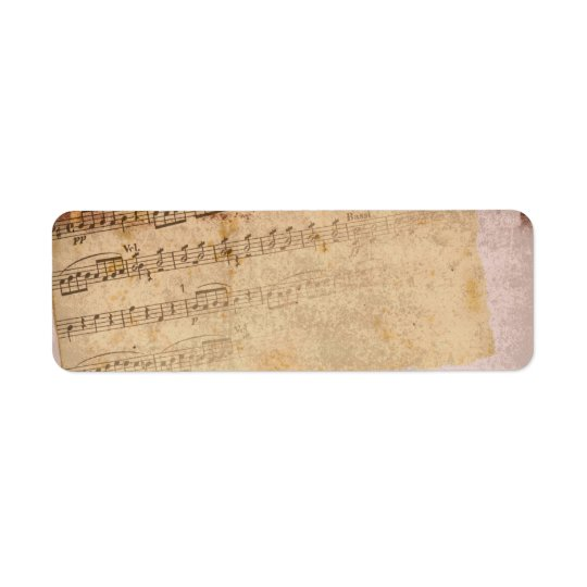 音符のラベル 返信用宛名ラベル