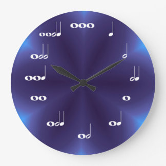 音符の時計の紫色のブレンド ラージ壁時計
