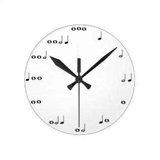 音符の時計 ラウンド壁時計