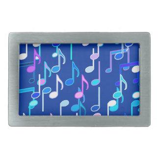 音符は-数々のな藍色を印刷します 長方形ベルトバックル