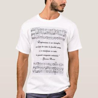 音符を持つイタリア語のPucciniの引用文 Tシャツ