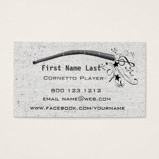 音符Cornett Cornetto Zinkを吹くこと 名刺