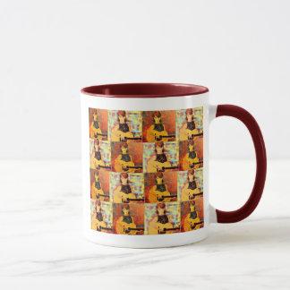 音響の女の子のコラージュ マグカップ