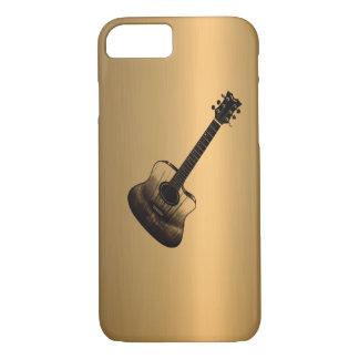 音響スタイルのギターの青銅の銅の効果 iPhone 8/7ケース