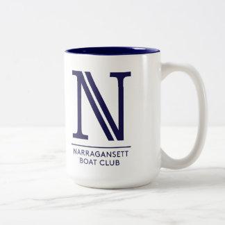 頂上およびNのロゴのNBCのマグ ツートーンマグカップ