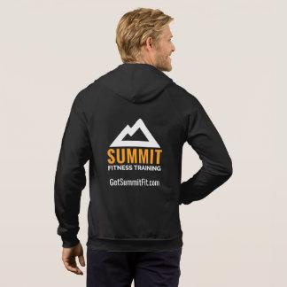 頂上のフィットネスの訓練の人の完全なジッパーのフード付きスウェットシャツ パーカ