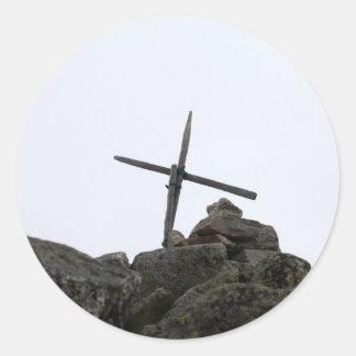 頂上の十字 ラウンドシール
