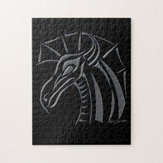 頂点に達されたドラゴンの(銀製の)パズル ジグソーパズル