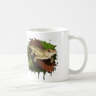 頂点に達されたヤモリ コーヒーマグカップ