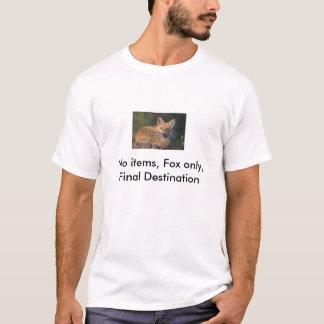 項目は、最終仕向地ただ孤色に変色しません Tシャツ