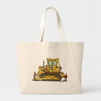 頑丈なブルドーザーの土の引越し業者の建築袋 ラージトートバッグ