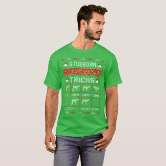 頑固なドイツShorthairedポインター犬のクリスマス Tシャツ