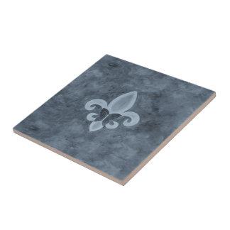 頑固なBarwareの煙の青い(紋章の)フラ・ダ・リの蝶 タイル