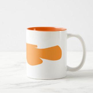 頑固者のナマズ ツートーンマグカップ