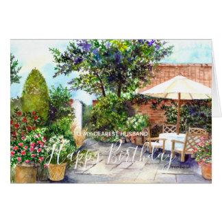 領主の邸宅の水彩画の絵画の台地 カード