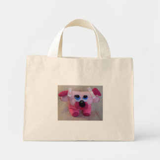 頬のfunmigurumiのpoochie犬 ミニトートバッグ