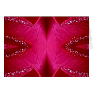 頭が切れるでシンプルなグラフィック-輝き赤いnのピンクのバラ カード