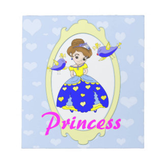 頭が切れるで鋭敏な王女のイラストレーション ノートパッド