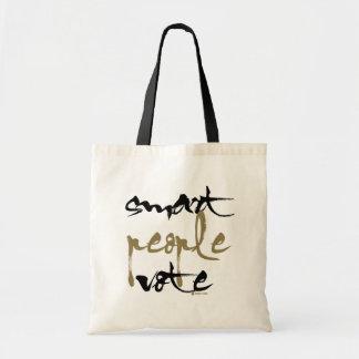 頭が切れるな人々の投票 トートバッグ