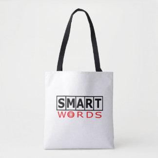 頭が切れるな単語のロゴのトートバック トートバッグ