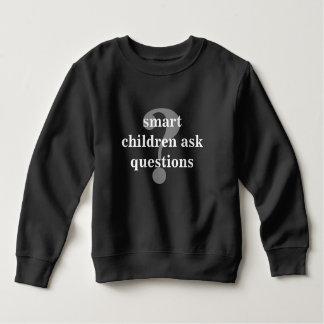 頭が切れるな子供は質問~に暗いTのスエットシャツを頼みます スウェットシャツ