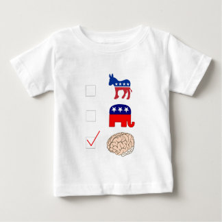 頭が切れるな投票 ベビーTシャツ
