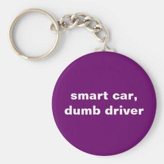 頭が切れるな車、物の言えない運転者 キーホルダー