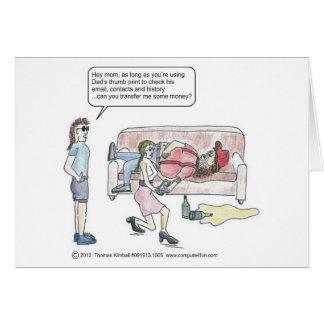 頭が切れるな電話漫画Thumbprint カード