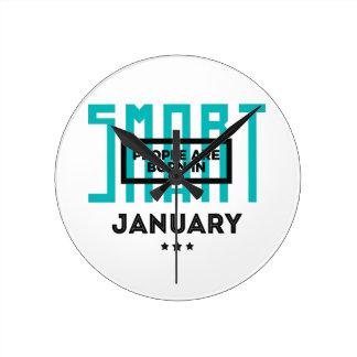 頭が切れる1月のベビーの誕生日で生まれて下さい ラウンド壁時計