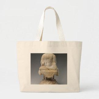 頭のない仏-唐朝(618-907) ラージトートバッグ