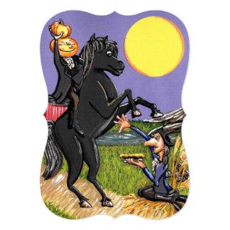 頭のない騎手のIchabodクレーン招待状ブラケット カード