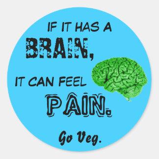 頭脳があれば、苦痛を感じることができます。 Vegは行きます ラウンドシール