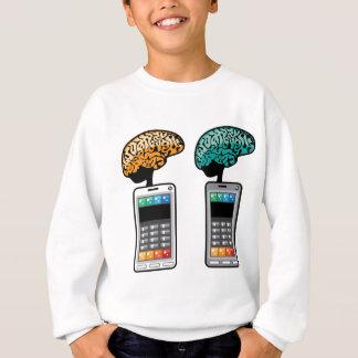 頭脳との最も頭が切れるな電話ベクトル スウェットシャツ