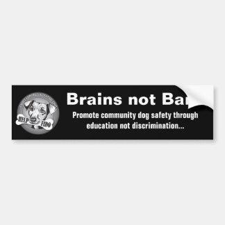 頭脳のない禁止(黒) バンパーステッカー