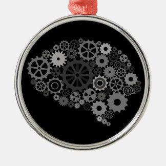 頭脳のギアのオーナメント メタルオーナメント
