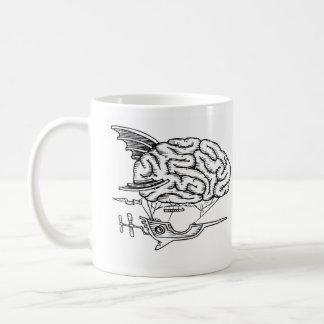 頭脳のツェッペリン型飛行船のマグ コーヒーマグカップ