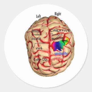 頭脳の左およびRishtの側 ラウンドシール