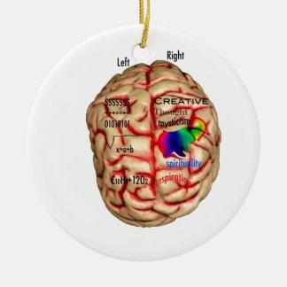 頭脳の左右の側面 セラミックオーナメント