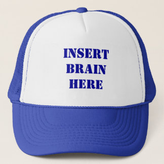 頭脳の帽子をここに挿入して下さい キャップ