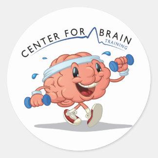 頭脳の訓練のステッカーのための中心 ラウンドシール