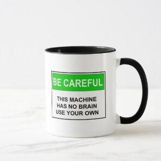 -頭脳の警告注意しないで下さい マグカップ