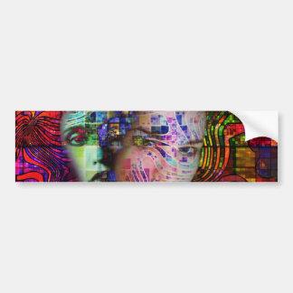頭脳の霧の芸術的な混乱 バンパーステッカー