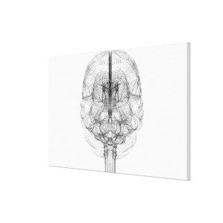 頭脳のWireframe キャンバスプリント