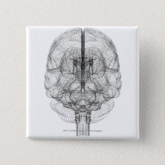 頭脳のWireframe 缶バッジ