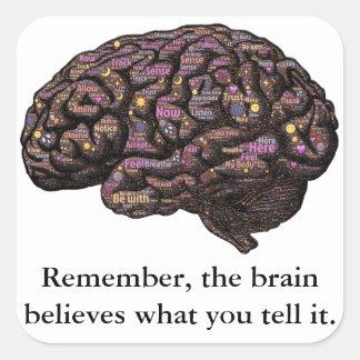 頭脳はそれに言うことを信じます スクエアシール
