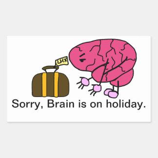 頭脳は休日を取ります 長方形シール