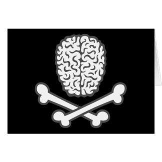 頭脳及び骨が交差した図形 カード
