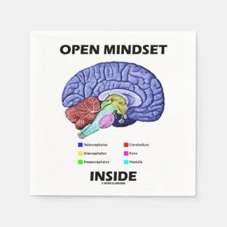 頭脳心理学のユーモアの中の考え方を開けて下さい スタンダードカクテルナプキン