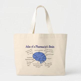 頭脳笑わされるな薬剤師の地図書 ラージトートバッグ